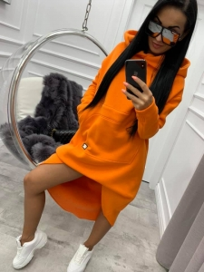 bluza miss city long orange - cienki materiał