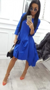 sukienka miss city long blue