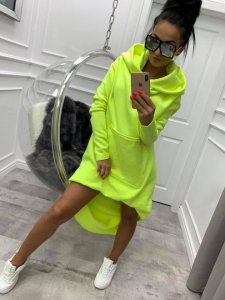 bluza miss city long neon limon - cienki materiał