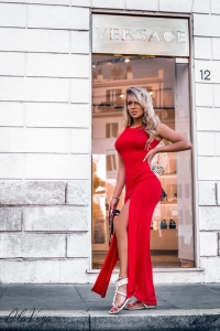Sukienka Maxi Dress red