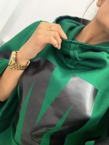 bluza poncho z kapturem  dark green