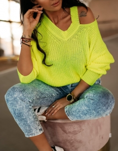 Sweter  LEAH neon limon