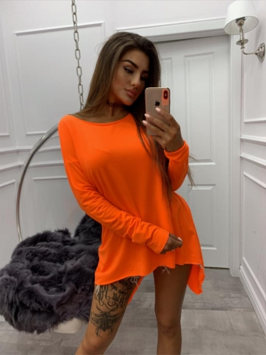 bluzka biedronka miss city neon orange
